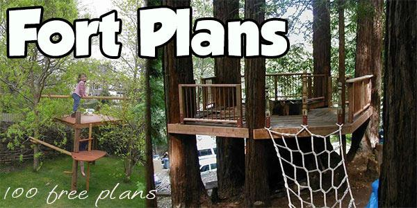 Fort Plans Indoor And Outdoor Plans For Building Kid S Forts
