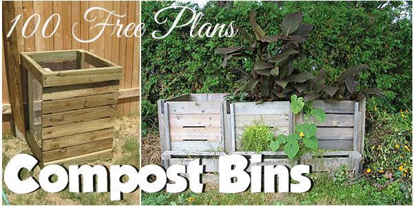 100 Compost Bin Plans Single Double Triple Compost