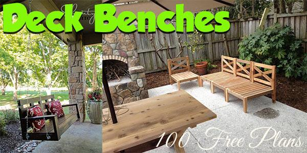 Deck Benches at PlansPin.com