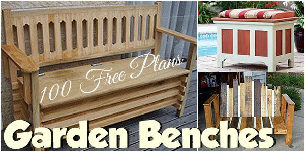 Garden Benches at PlansPin.com