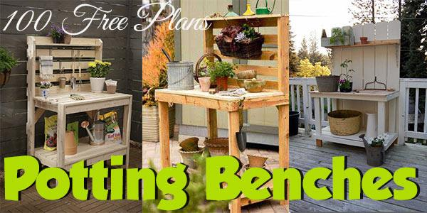 Potting Benches at PlansPin.com