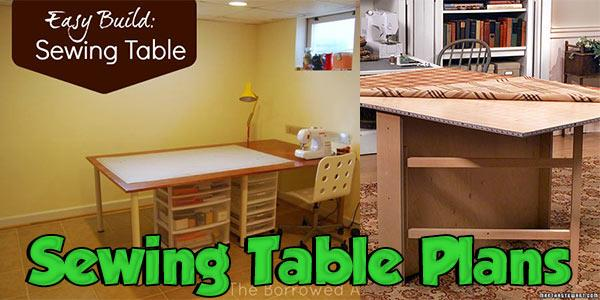 Sewing Table Plans at PlansPin.com