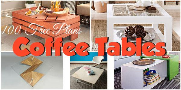 Coffee tables at PlansPin.com