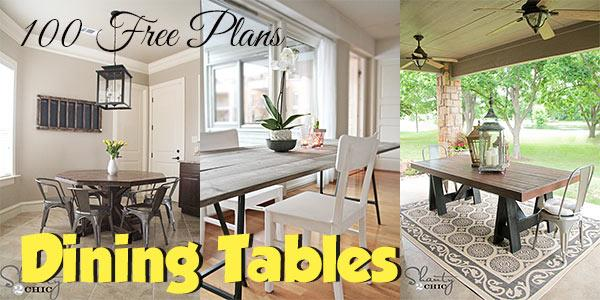 Dining Tables at PlansPin.com