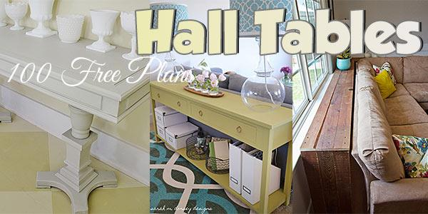 Hall Tables at PlansPin.com