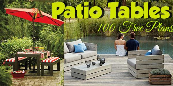 Patio Tables at PlansPin.com