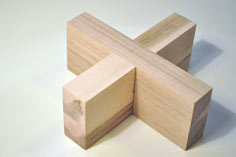how to make a wooden cross puzzle
