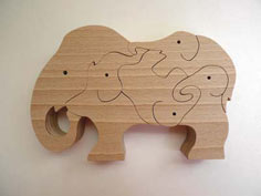 Freestanding Animal Puzzles