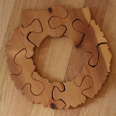 wooden wreath puzzle: a tutorial