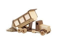 Construction-Grade Dump Truck Wood